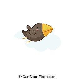 Crow - Cute Crow vector design