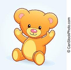 cute cuddly teddy bear vector illustration