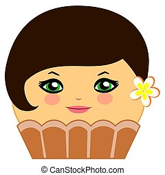 Cute Cupcake Chocolate Couture - Illustration of a...