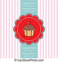 Cute cupcake gift card