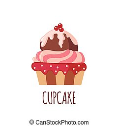 Cute cupcake icon