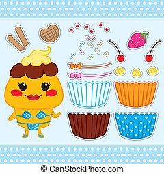Cute Cupcake Paper Doll