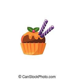 Cute Cupcake With Chocolate