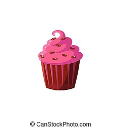 Cute Cupcake With Pink Icing