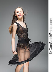cute dancer girl with braces