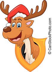 cute deer christmas cartoon
