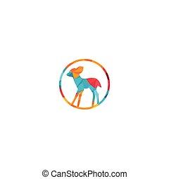 Cute deer vector logo design.