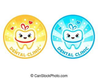 cute, dentale, klinik