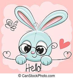 cute, desenho, coelho