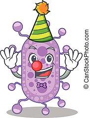 cute, desenho, mycobacterium, personagem, conceito, caricatura, palhaço