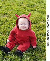 cute, diabo pequeno
