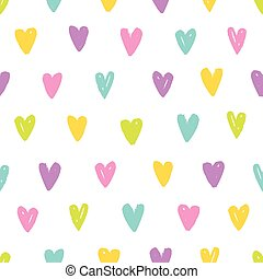 Cute different colors hearts.