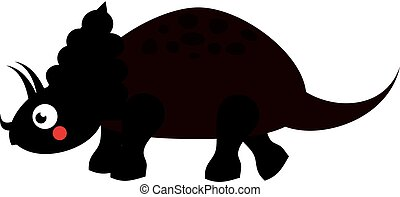 Cute dinosaur. Cartoon dino character. Triceratops. Vector illustration for kids