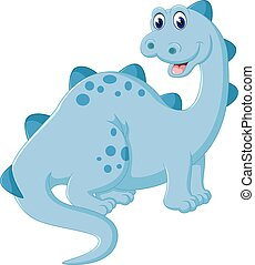 Cute dinosaur cartoon - illustration of Cute dinosaur...