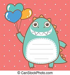 cute dinosaur of scrapbook background.