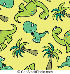 Cute dinosaur seamless pattern
