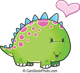 Cute Dinosaur Vector Art