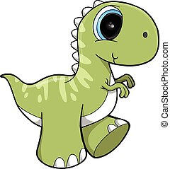 Cute Dinosaur Vector Illustration