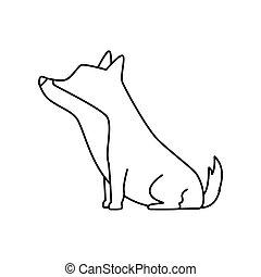 cute dog animal isolated icon
