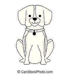 cute dog breed character