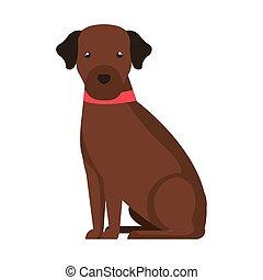 cute dog brown color isolated icon vector illustration design