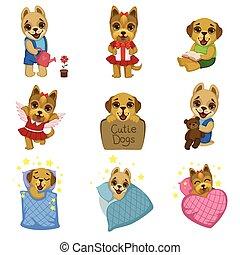 Cute Dog Cartoon Collection