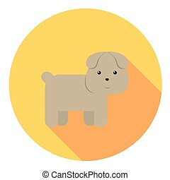 Cute Dog Flat Icon