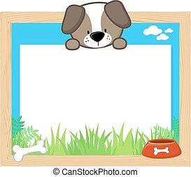 cute dog frame