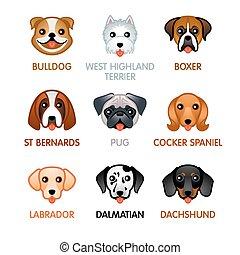 Cute dog icons, set I