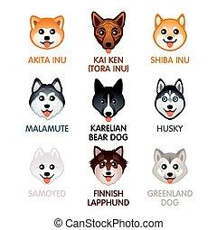 Cute dog icons, set II