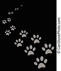 Cute dog or cat paw print