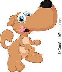 Cute dog posing - vector illustration Cute dog posing