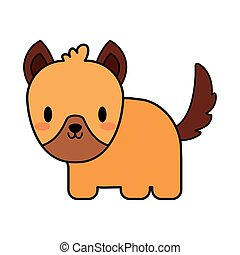 cute dog puppy kawaii, line and fill style icon