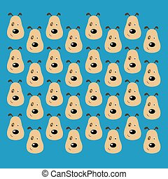 Cute dogs animals creative pattern, texture