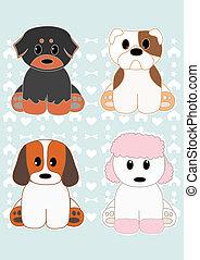 Cute dogs set 1