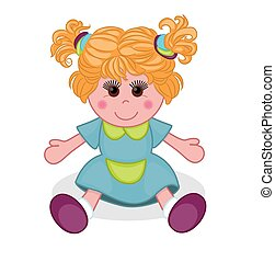 Cute doll. Vector illustration