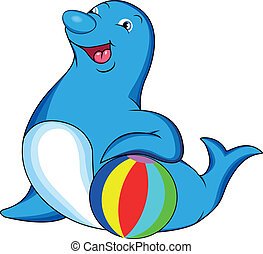 cute dolphin cartoon