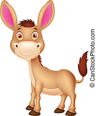 Cute donkey cartoon