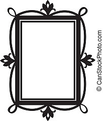 Cute doodle frame. Element for design