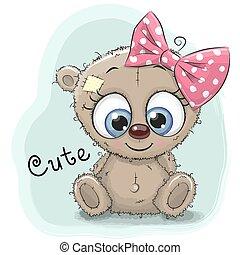 Cute Drawing bear girl
