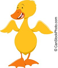 cute duckling animal character - Cartoon Illustration of...