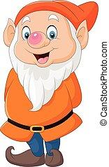 Cute dwarf cartoon - Vector illustration of Cute dwarf...