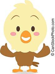 Cute eagle cartoon collection stock
