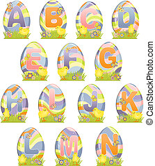 Cute Easter alphabet