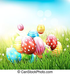 cute easter background cute retro styled easter themed polk dot