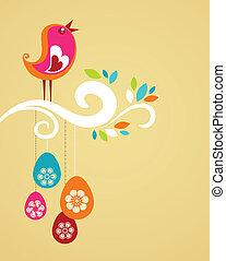 Cute Easter bird