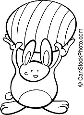 cute Easter bunny cartoon coloring page