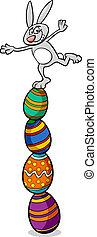 cute easter bunny cartoon illustration