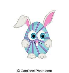 Cute easter bunny egg