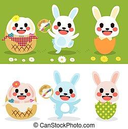 Cute Easter Bunny Set